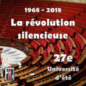 Inscription Unversité d'été 1968-218 La révolutio silencieuse